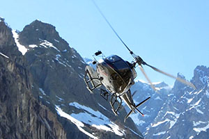 Mountain helicopter aerial work