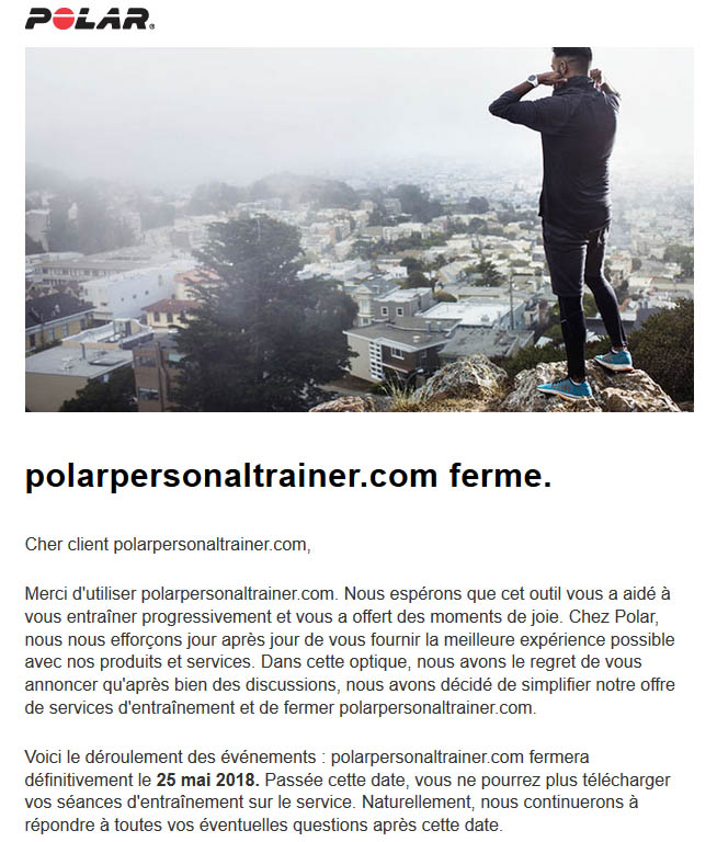 Mail fermeture polarpersonnaltrainer