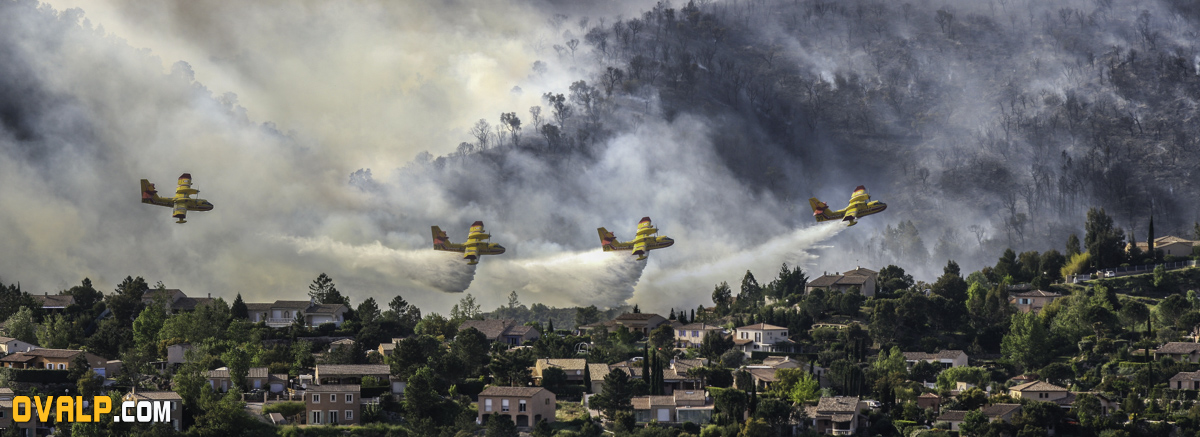 canadair cl 415 montage photo