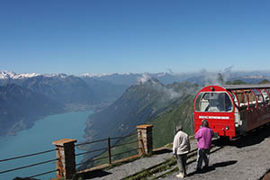 Panorama of the Swiss Alps from Brienzer Rothorn